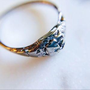 Jewelry - Antique Victorian 14K White Gold Diamond Ring